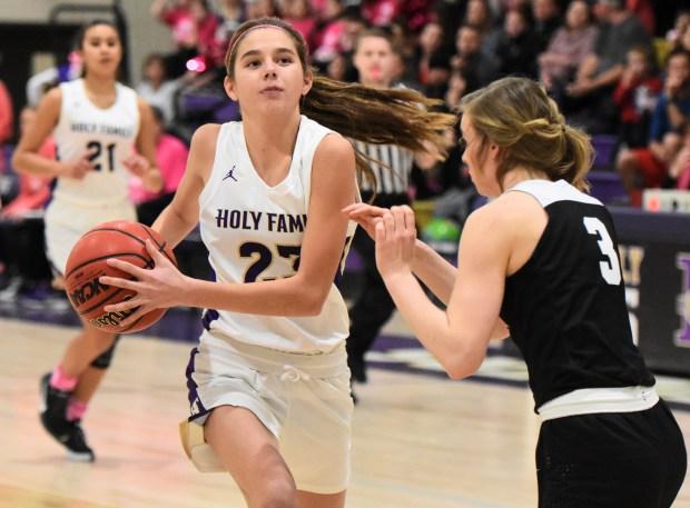 Girls basketball: Hefner's heroics help Erie earn split of Tri-Valley series with Holy Family – BoCoPreps