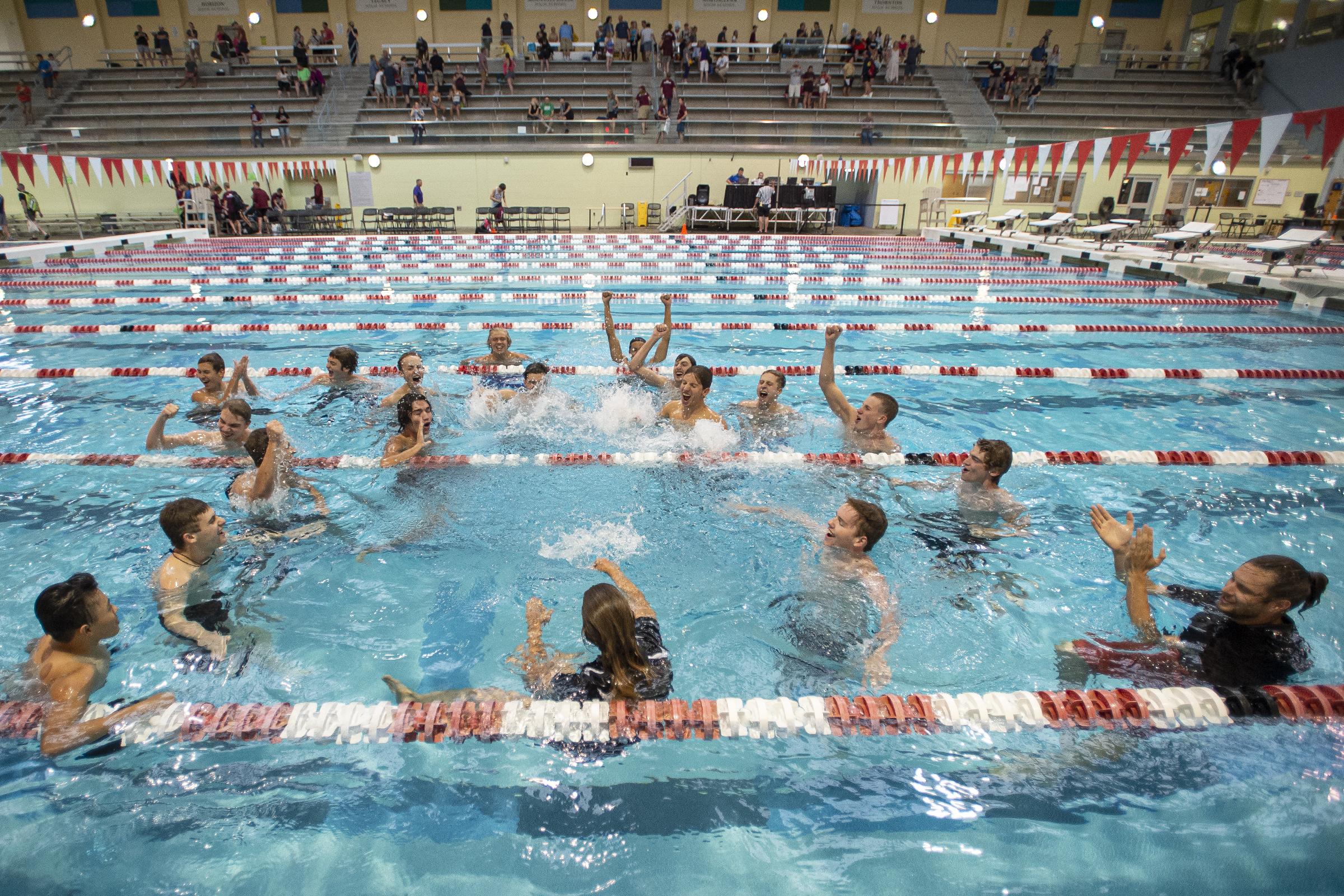 The Silver Creek boys swimming team ...